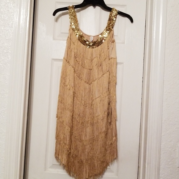 Dresses Gold Tina Turner Costume Dress Poshmark